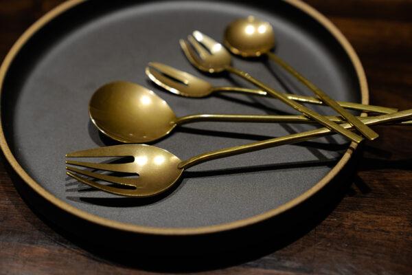 vintage brass cutlery